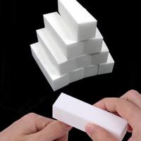 Wholesale White Buffing Sanding Files Block Pedicure Manicure Care Nail Art Buffer