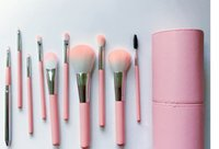 Wholesale chrismas gift brand new easy to portable cherry pollen makeup brush set for beginners pc per