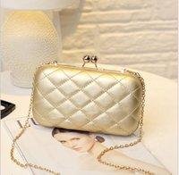 american quilting - Gold Clutch Bag Women Evening Bag Plaid Handbags Women Bags Designer Evening Clutches and Purses Quilting Chain Bags Shoulder