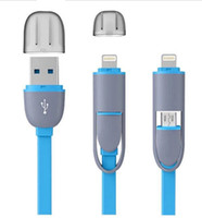 Wholesale Two in One USB Type C Micro to USB Cable Fir for iPhone Android