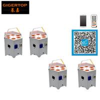 app case - Good Quality Unit x5W Battery Powered G Wireless Remote Control Led Par Light Aluminum Case White Case Phone App Remote Control