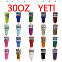Wholesale 19 Color Custom Color oz Yeti Tumbler Cup oz Yeti Tumbler Stainless Steel Double Wall Vacuum Insulated Cup Travel Mug IN STOCK