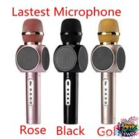 Wholesale Dropship Good sounds E103 Microphone speaker karaoke ktv K song singing player Magic Wireless Microphone handled bluetooth speakers