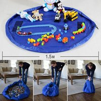 Wholesale Newest Colorful Baby Play Mat Luxury Toy Storage Bags Playing Mats Portable Toys Blanket Rug Boxes Toys Organizer Christmas Gift WX T96