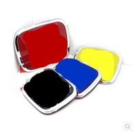 accord sticker - 1pcs Front Rear Car Emblem Badges Sticker Symbols Cover Front Rear Black Blue Red For H All Size