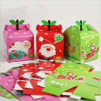 apples favor box - 100pcs Christmas Day Butterfly Apple Box DIY Folding Party Boxes Gift box Candy box chocolate boxs For On Christmas Eve