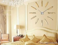Wholesale New Hot Selling home decorative wall clock Large size DIY creative wall clock home decor