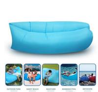Fast inflável Air Sleeping Bag Hangout espreguiçadeira Air Camping Sofa Portátil Praia Nylon tecido dormir cama com bolso e âncora quente HHA1117