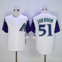 arizona sales - Newest Top Quality Randy Johnson Shirts For Sale Arizona Diamondbacks Jersey Randy Johnson White Baseball Jerseys Size M L XL XXL XXXL