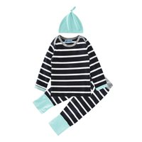 baby children market - Baby clothes baby young children s clothing market fall stripes three piece suit stylish hat T shirt pants suit children