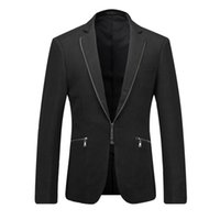 Wholesale Europe and the United States men s new winter Cultivate one s morality jackets suit collar zipper decoration