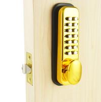 bedroom door locks - Mechanical Password Door Lock Bedroom Code Locks Color Gold