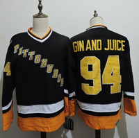 best quality gin - 1994 Pittsburgh Penguins Gin and Juice Snoop Dogg Jersey Throwback Black GIN AND JUICE Hockey Jersey Vintage Best Quality S XXXL