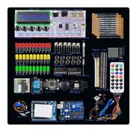 Wholesale UNO R3 Starter Kit Step Motor Servo LCD Breadboard LED resistor for Arduino E VBD14V2