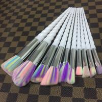 Wholesale Unicorn Brushes set Unicorn Thread Makeup Brushes Professional Make Up Fiber Brush Set Makeup Tools Cosmetics rainbow Brushes