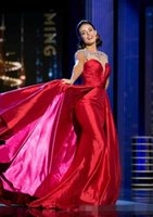 Wholesale 2017 Newest Miss American Mermaid Celebrity Dresses Red Taffeta Sexy Girls Junior Pageant Long Evening Prom Dresses With Beads