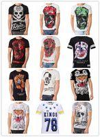 Wholesale Original German brand men s Short sleeve t shirt fashion crime design skull hip hop high quality print medusa PHILIPP PLEIN T shirt pp3