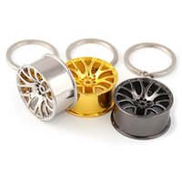 Wholesale 3 Colors Car Key Chain Auto Wheel Styling Keychain Keyring for Hanging Decoration Alloy Material Key Ring Car Accessories