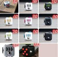 b cubed - New Color Fidget cube the world s first American original decompression anxiety Toys Adults and Children Novelty Fidget Cube Toy B