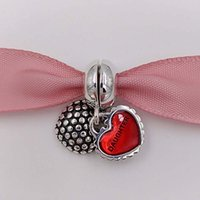 Wholesale Genuine S925 Sterling Silver Mother Daughter Son Dangle Charm For European Brand Bracelets gift for mom mothers day ALE EN27