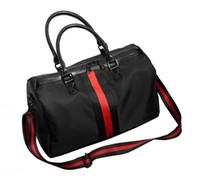 Wholesale High Quality Oxford Waterproof Shoulder Duffel Bags Fashion Designer Stripe Casual Beach Bags Large Capacity Storage Bag Korean Travel Bag