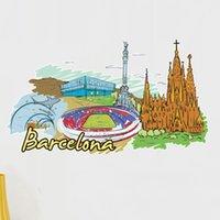 barcelona design - Barcelona Landmark Wall Sticker Wedding Decor Vinyl Waterproof Wall Pvc Sticker Wallpaper Decal Removable