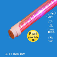 Wholesale led grow light ft ft ft T8 Integrated Led Tube Grow Lights SMD2835 W W W Hidroponia Plants Hydroponic Grow Box AC V