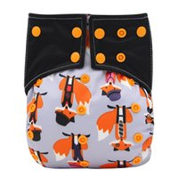 bamboo nights - 10pcs Ohbabyka Bamboo Charcoal Night Baby Cloth Diaper Double Gussets All In One AIO Pocket Cloth Diaper With Color Tab