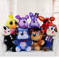 Wholesale 30PCS HHA811 Five Nights At Freddy s plush dolls cm cm styles animal Freddy Bonnie Chica Foxy FNAF figures toys halloween