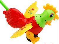 Wholesale Children push the big cock toys baby toddler push push rooster hot toys children s toys