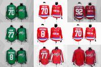 Wholesale Ice Hockey Washington Alexander Alex Ovechkin Jersey TJ Oshie Braden Holtby Evgeny Kuznetsov Wilson Red Green