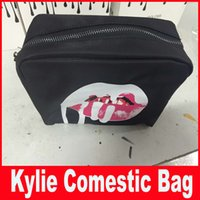 cosmetic black up - Kylie Jenner bags Cosmetics Birthday Bundle Bronze Kyliner Copper Creme Shadow Lip Kit Make up Storage Bag in stock