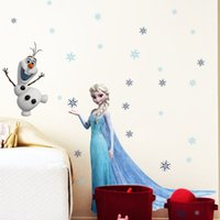 Wholesale Frozen cartoon Stickers Home Decor Wall decals Removable D stickers Art Fairy tale movie For kids kids room