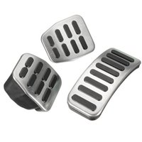 Wholesale Set Universal Stainless Steel MT Car Pedal Pads For VW Polo Jetta MK4 Bora Golf MK4