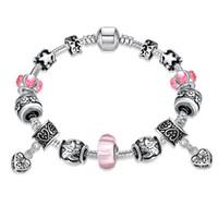 bezel pendant diamond - Retro Paint Czech Diamond Pendant Bracelet Popular in Europe and the United States Women Fashion Jewelry Bracelets Charm Gift For Girl