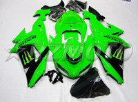ABS Compression Mold Kawasaki New Customized ABS motorcycle bike Fairing Kits Fit For kawasaki Ninja ZX10R ZX-10R 2006 2007 06 07 bodywork Set hot buy black green
