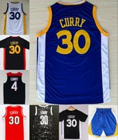 Wholesale Cheap steph curry jersey Black Blue White Red Color Basketball Jersey Embroidery Logos