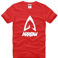 arrow tv s - New Summer Style TV Movie T Shirts Men Green Arrow Men T Shirt O neck Cotton Short Sleeve T shirt Men Tee Tops