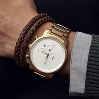 Wholesale Casual Quartz Watch Men Top Brand Stainless Steel Watches Relojes Hombre Horloge Orologio Uomo Montre Homme SPROT mvmt Watch Drop Shipping