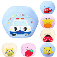 Wholesale Cute Baby Diapers Reusable Nappies Cloth Diaper Washable Infants Children Baby Cotton Training Pants Nappy Changing