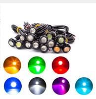 Wholesale 20PCS MM MM W V V LED Eagle Eye Light Motor Car Fog DRL Daytime Reverse Reverse Backup Signal