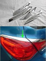 Wholesale Chrome Rear Lamp Eyelid Tail Molding Lid Eyebrow Cover Trim External For BUICK EXCELLE XT OPEL ASTRA J Styling
