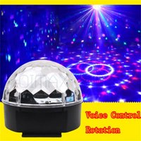 Wholesale Mini Smart Sound Control Led Music Magic Crystal Ball Lamp Colors Stage Light