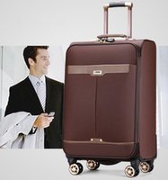 Wholesale 2017 PU Business Travel Suitcase Trolley Travel Bag On Wheels Boarding Luggage Tote Backpack
