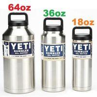 Wholesale Hot Sale YETI Rambler Bottle oz Warmer Rambler Bottle Double Wall Stainless Steel Cup with YETI Lid Water Bottle Drop shipping