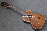 Wholesale 27 quot Concert Mini Acoustic Ukulele Guitar with EQ Handcraft Solid Acacia Wood