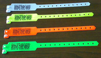 african wedding favors - DHL CUSTOM PVC Wristband Security ID Tri Layer Wristbands Party Favors Portection bracelets