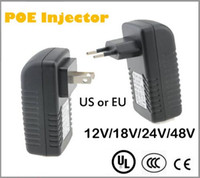 Wholesale Quality POE Injector for Hikvision CCTV IP Camera USA or EU Power Over Ethernet Injector POE Switch Ethernet Adapter POEB48E