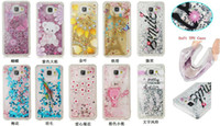 TPU bear stars - Floating Glitter Star Running Quicksand Liquid Dynamic tower bear solf Case Shining Cover for iphone plus S plus touch