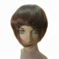 Wholesale Human hair bangs for women with clips Indian Peruvian Malaysian virgin human hair fringes quot straight B off Quercy